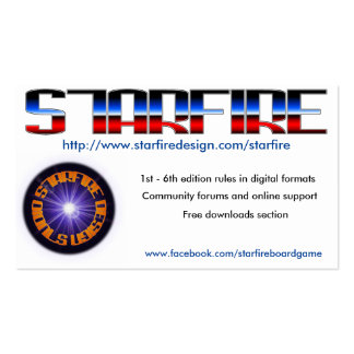 Starfire Convention Cards Pack Of Standard Business Cards