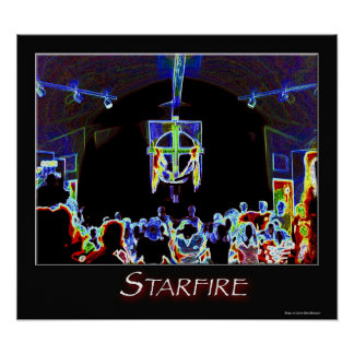 Starfire on Fire Poster