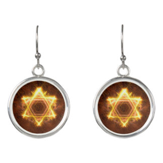 Starfire Star Of David Earrings