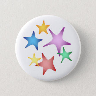Starfish 6 Cm Round Badge