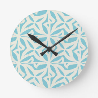 Starfish Abstract Pattern Round Clock