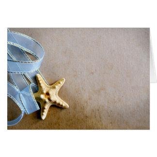 Starfish and blue ribbon card