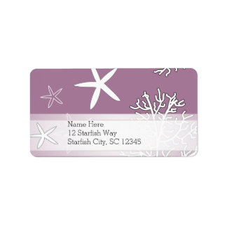Starfish and Coral Reef Address Label