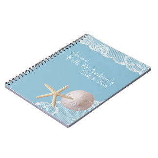 Starfish and Lace Beach Notebook