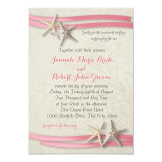 Starfish and Pink Ribbon Card