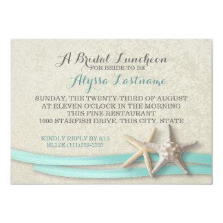 Starfish and Ribbon Bridal Luncheon 11 Cm X 16 Cm Invitation Card