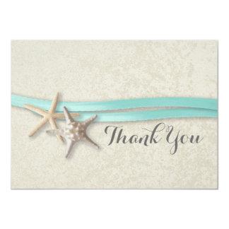 Starfish and Ribbon Flat Card Thank You 11 Cm X 16 Cm Invitation Card