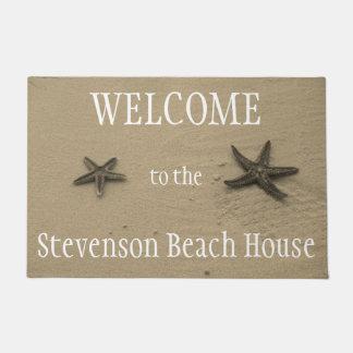Starfish and Sand Ocean Summer Beach House Welcome Doormat