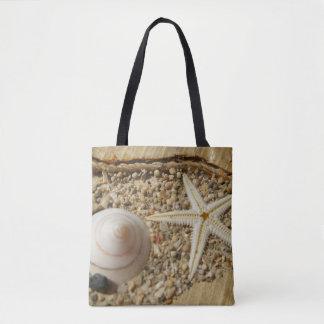 Starfish and Sea shell Tote Bag