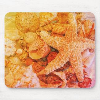 Starfish and Sea Shells (2) - Mouse Mat