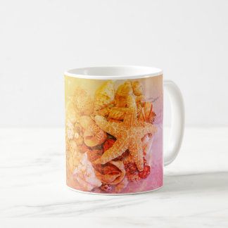 Starfish and Sea Shells - Coffee Mug