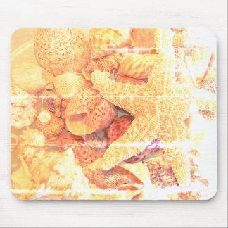 Starfish and Sea Shells- Mouse Mat