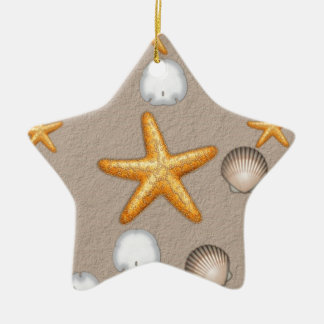 Starfish and Seashells Beach Theme Gifts Christmas Ornament