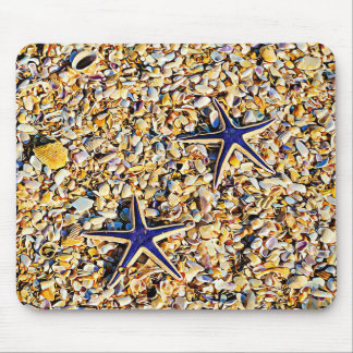 Starfish and Seashells Mouse Pad