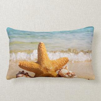 Starfish and Seashells on the Beach Lumbar Cushion