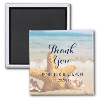 Starfish and Seashells on the BeachThank You Magnet