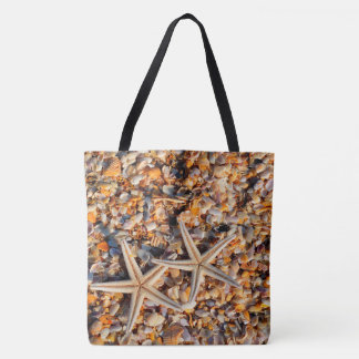 Starfish and Seashells Tote Bag