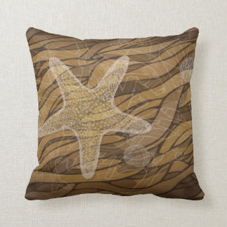Starfish and seaweed cushion