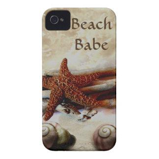Starfish and shells   beach scene iPhone 4 covers