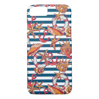 Starfish And Stripes Pattern iPhone 8/7 Case