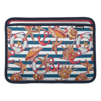 Starfish And Stripes Pattern Sleeve For MacBook Air