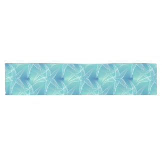 Starfish Aqua Blue Sea Beach Table Runner