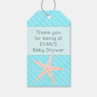Starfish Aqua Thank You Baby Shower