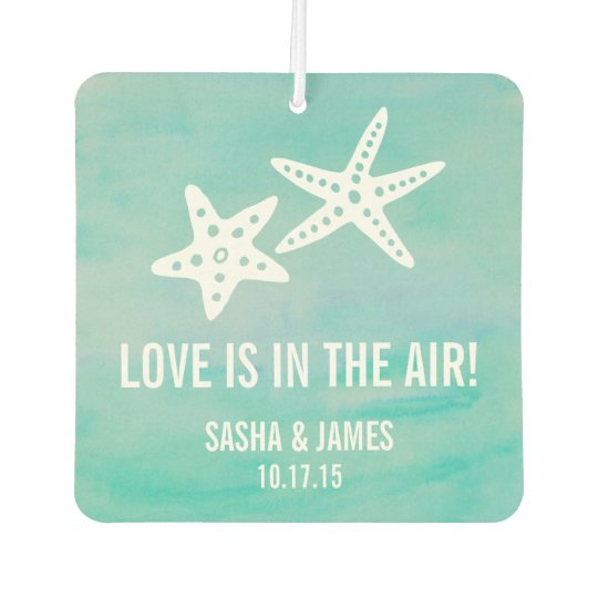 Starfish Aqua Wedding Favour Air Freshener