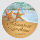 Starfish ASK ME TO DRAW NAMES IN SAND B4 U ORDER Classic Round Sticker