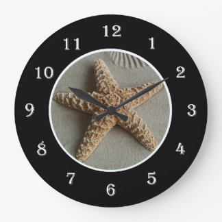 Starfish at the Beach Wall Clock