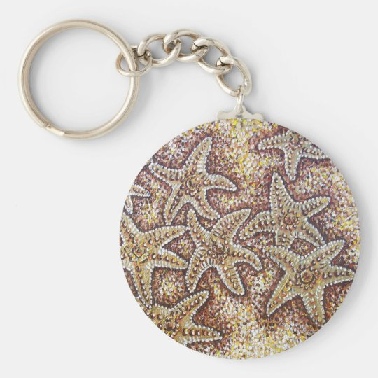 STARFISH BASIC ROUND BUTTON KEY RING