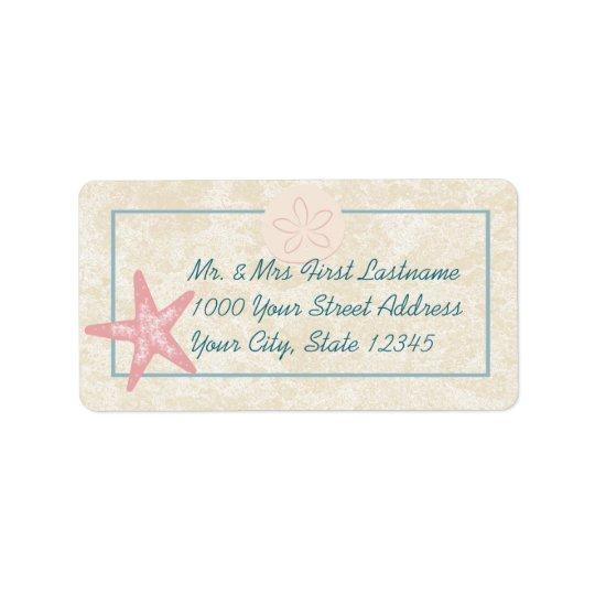 Starfish Beach Address Address Label