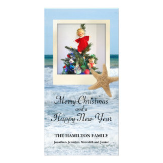Starfish Beach Christmas 1 Card