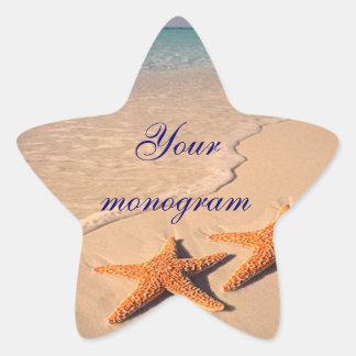 Starfish Beach Ocean Wedding Envelope Seals Labels
