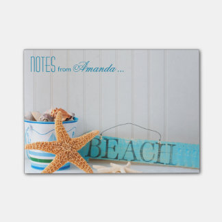 Starfish Beach Personalized Sticky Note
