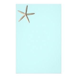Starfish beach photo art personalized stationery