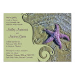 Starfish Beach Post Wedding Reception Only Invitation