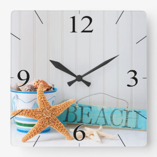Starfish Beach Tropical Summer Wallclock