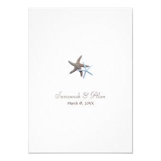 Starfish Beach Wedding Invitations, 5x7 13 Cm X 18 Cm Invitation Card