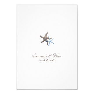 Starfish Beach Wedding Invitations, 5x7 Card