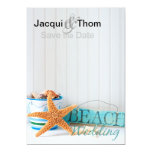 Starfish Beach Wedding Save the Date Personalized Announcement