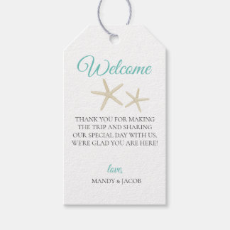 Starfish Beach Wedding Welcome Bag Gift Tags