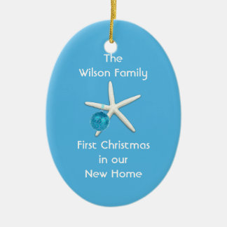 Starfish Blue First Christmas New Home Custom Christmas Ornament