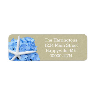 Starfish Blue Hydrangea Return Address