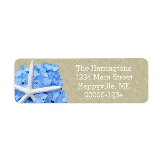 Starfish Blue Hydrangea Return Address Return Address Label