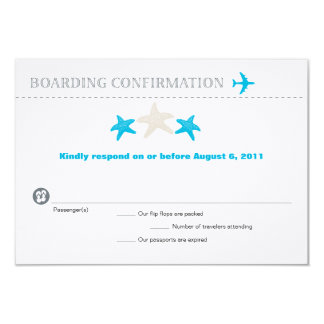 Starfish Boarding Pass RSVP Card