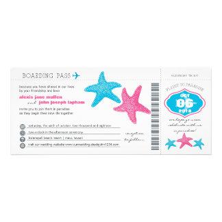 Starfish Boarding Pass | Wedding Invite
