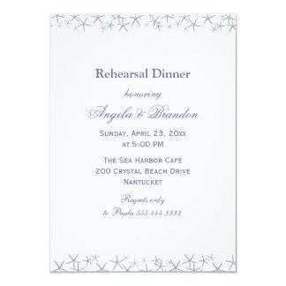 Starfish Border Rehearsal Dinner Invitation