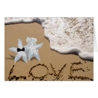 Starfish Bride Groom Card