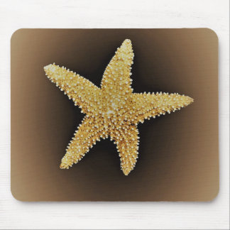 starfish brown background mousepad